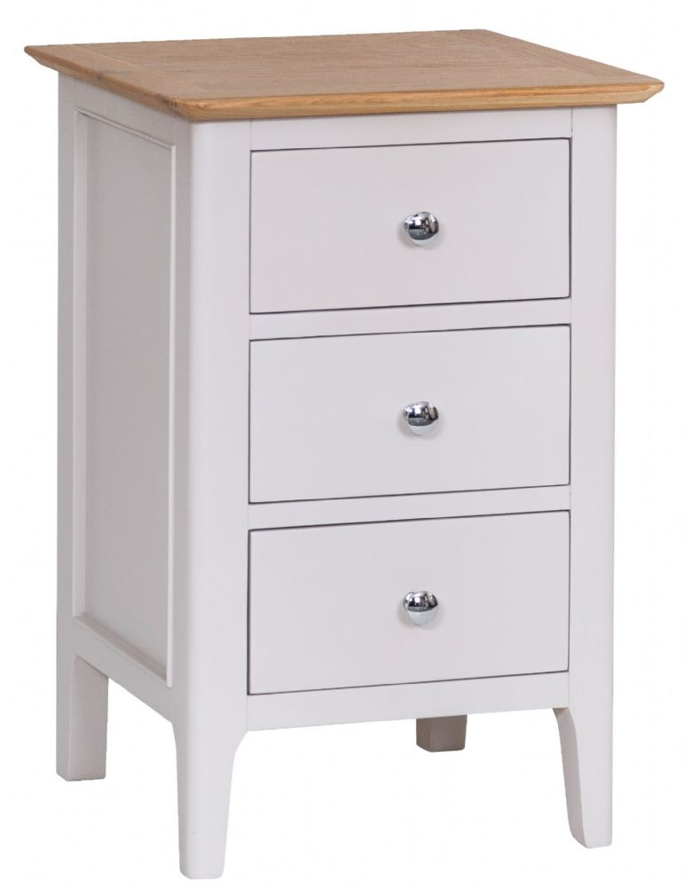 Newhaven Grey Painted Small Bedside Cabinet